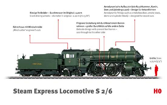 maerklin/メルクリン 37015 蒸気機関車 S2/6 K.Bay.Sts.B.
