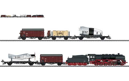 maerklin/メルクリン 26802 蒸気機関車 BR50 DRG+飛行機運搬貨車セット