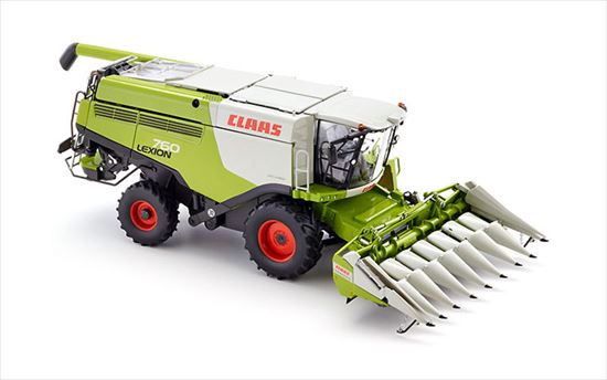 "Wiking/ヴィーキング 077340 1/32 Claas Lexion 760 combine with Conspeed corn header""border="