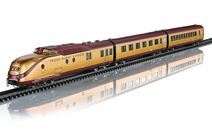 maerklin/メルクリン 37603 ディーゼル機関車 DB BR VT11.5 TEE 24Kメッキ 7両セット