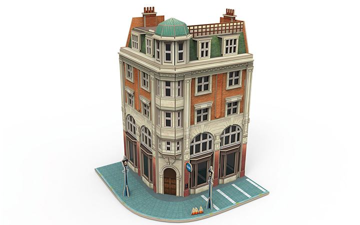 maerklin/メルクリン 72783 3Dパズル 銀行 HO