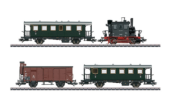 maerklin/メルクリン 26609 蒸気機関車 DB 98.3 グラスカステン 客車2両 貨車1両セット